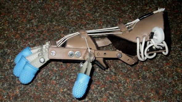 Ręka (Robohand) wydrukowana dla 5-latka-2