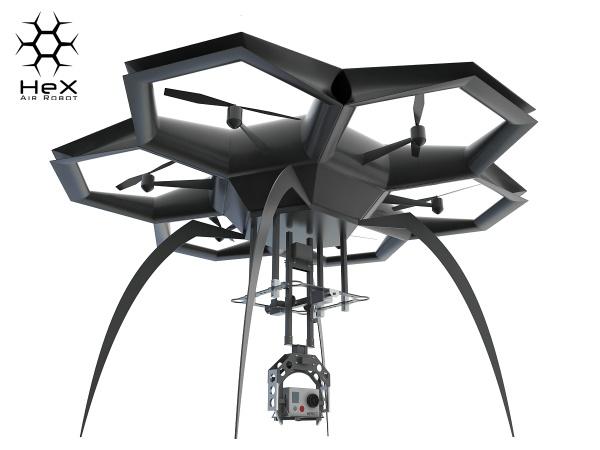 Sam zbuduj HEX Air Robot dzięki drukarce 3D