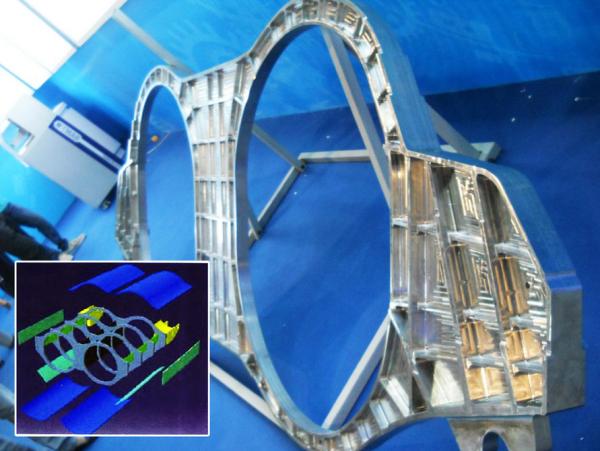 Chiny pokazują największy wydrukowany komponent samolotu