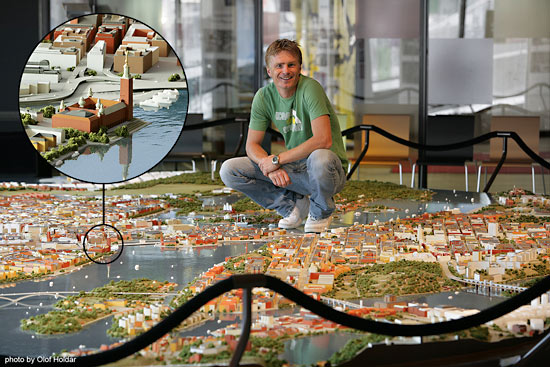 Olbrzymia makieta miasta Sztokholm wydrukowana w 3D