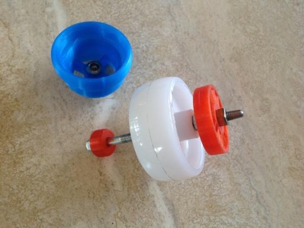 Wydrukowana  turbina kręci się z prędkością 60 tys. rpm-3