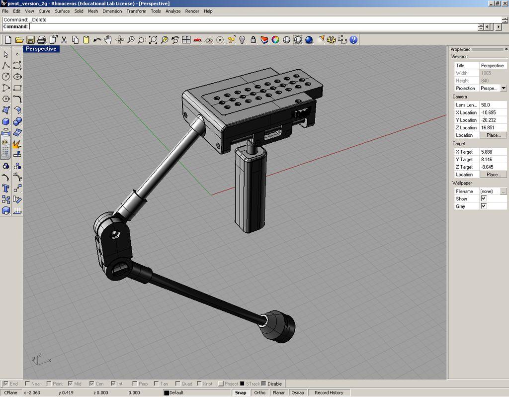 Wydrukowany w 3D stabilizator kamery-4
