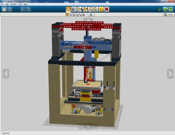Legobot - drukarka 3D z klocków lego6