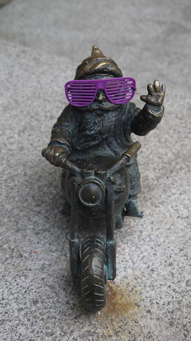 Wrocławski krasnal z okularami z drukarki 3D