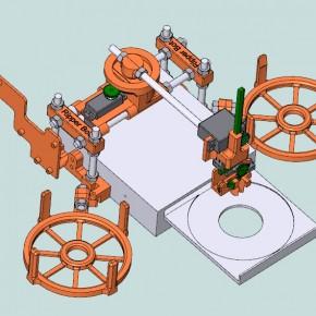 Jack Bot Ripper - wydrukowany robot zmieniający płyty