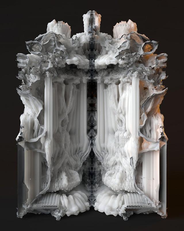 Pokój o wyglądzie katedralnym wydrukowany w 3D-3