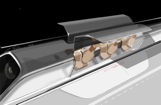 kapsuła z drzwiami otwartymi na stacji hyperloop