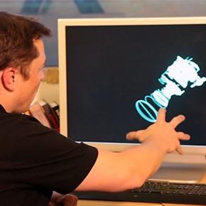 Projektowanie części rakiet za pomocą gestów