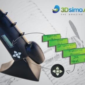 3Dsimo - pisak drukujący wieloma materiałami