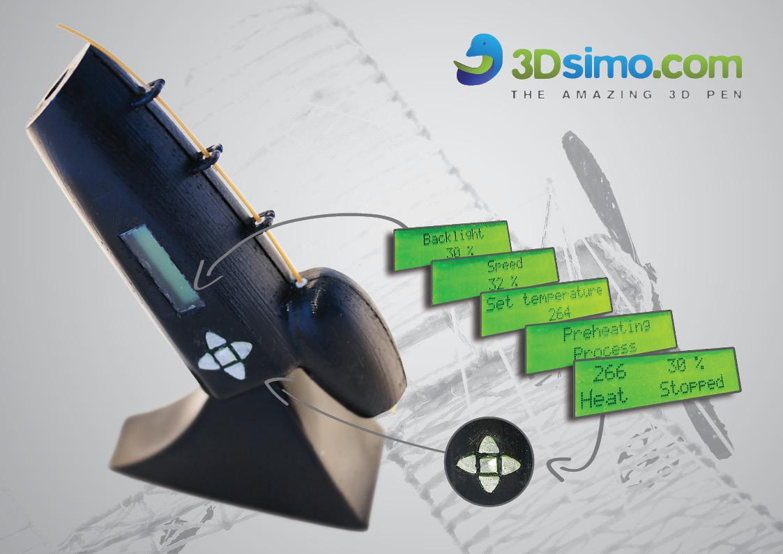 3Dsimo – pisak drukujący wieloma materiałami