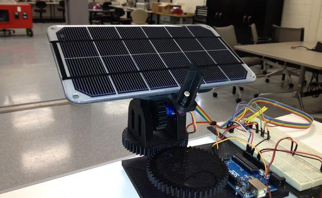 Dual-Axis-Solar-Tracker