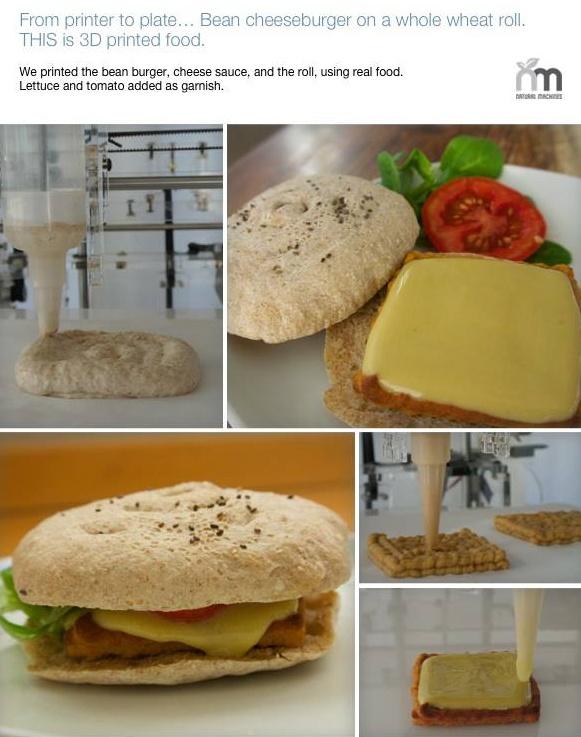Drukowane cheesburgery, czyli rewolucje kuchenne ciąg dalszy