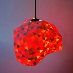 Drukowane trójwymiarowo designerskie lampy