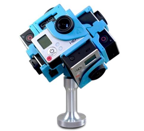 Piorunują2cy efekt filmowania 6 kamerami GoPro