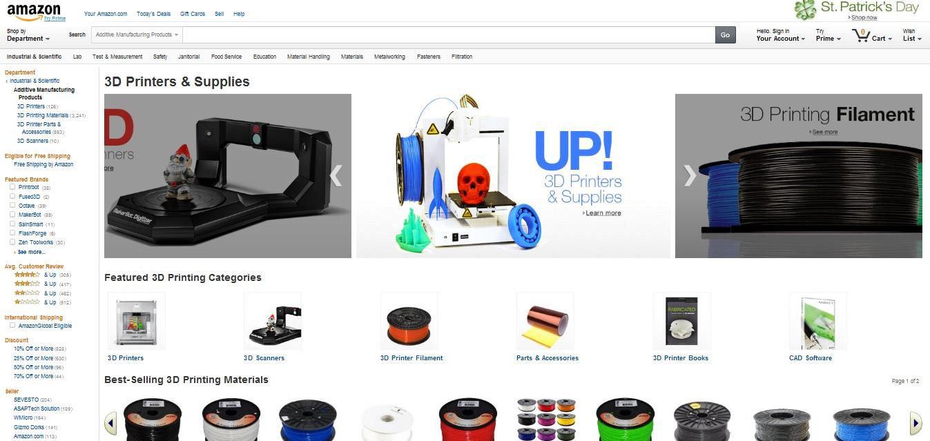 Amazon uruchamia sprzedaż wydrukowanych elementów