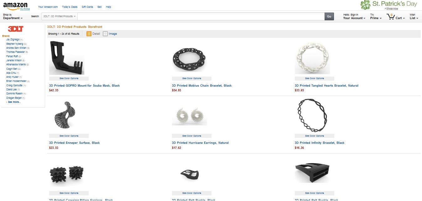Amazon uruchamia sprzedaż wydrukowanych elementów1
