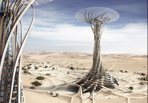 Sand Babel Drapacz chmur wykonany z piasku pustyni