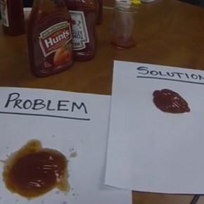Licealiści rozwiązali problem z wyciskaniem ketchupu