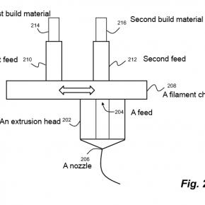 Patent Makerbot na zmianę kolorów druku