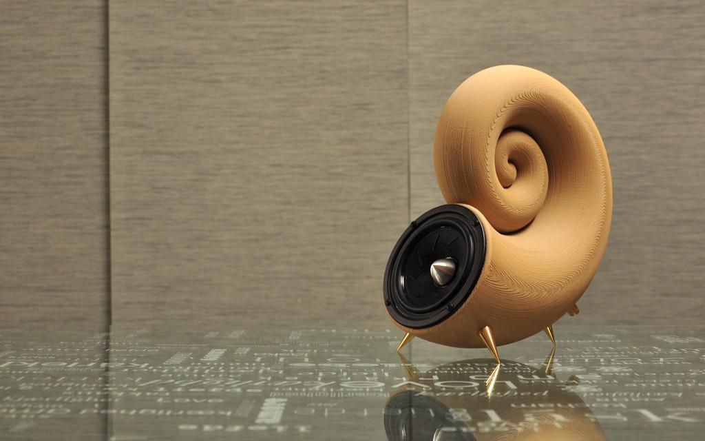 Wydrukowany zestaw głośnikowy Spirula 4.0, model STL do pobrania za darmo