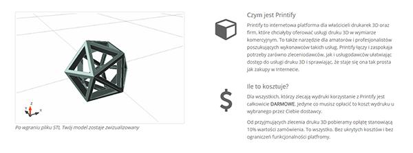 Printify - internetowa platforma druku 3D2