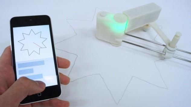 Urządzenie do tworzenia i powielania kształtów na kartce papieru-3