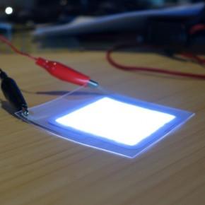 Cienkie jak papier źródło światła LED wydrukowane w 3D