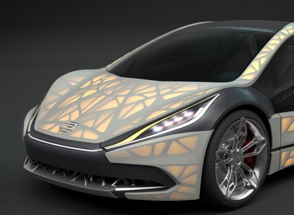 Light Cocoon - ultralekki samochód z drukarki 3D-2