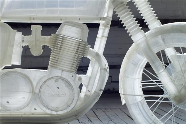 Naturalnej wielkości motocykl Honda CB500 z drukarki Ultimaker 3D