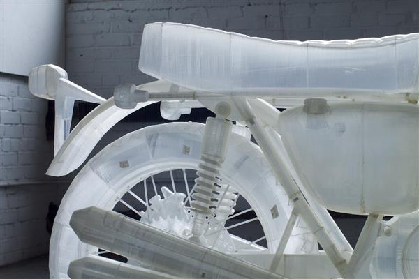 Naturalnej wielkości motocykl Honda CB500 z drukarki Ultimaker 3D1