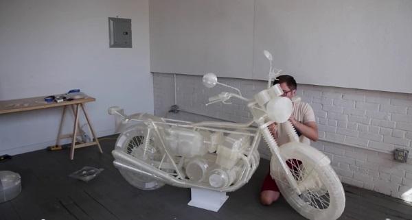 Naturalnej wielkości motocykl Honda CB500 z drukarki Ultimaker 3D3