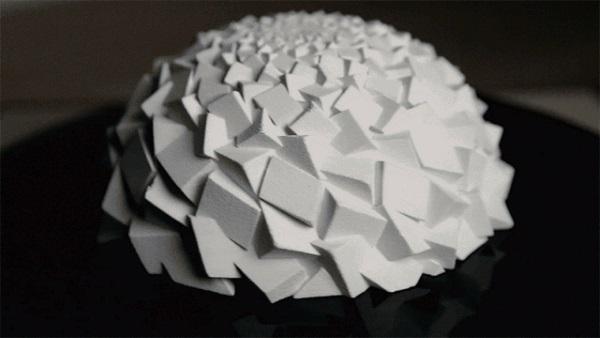 Struktury Fibonacciego wydrukowane na drukarke 3D1