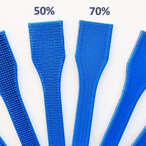 Wpływ wypełnienia i wysokości warstwy na jakość drukowanego modelu