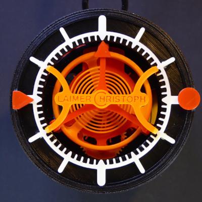Wydrukowany 3D Zegar z tourbillonem1