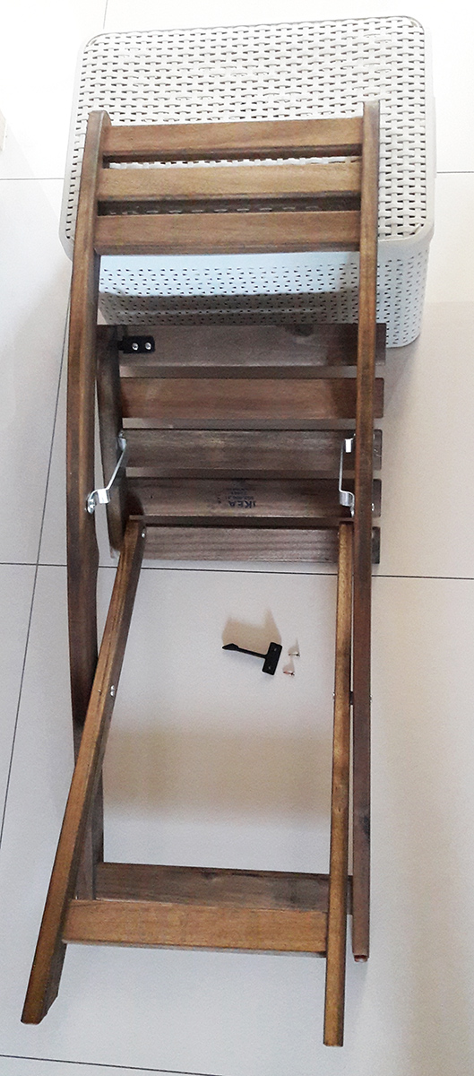 Wydrukowany 3D zaczep do krzeseł balkonowych z Ikei5