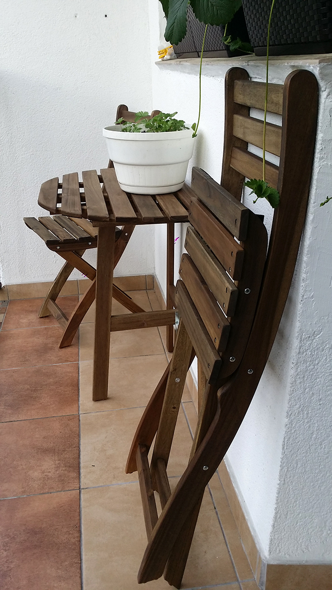 Wydrukowany 3D zaczep do krzeseł balkonowych z Ikei511