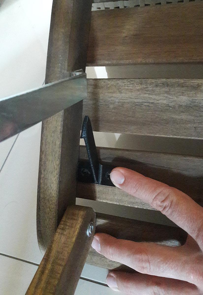 Wydrukowany 3D zaczep do krzeseł balkonowych z Ikei6