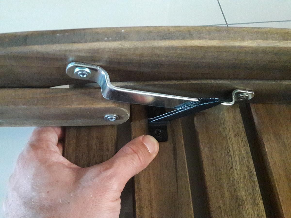 Wydrukowany 3D zaczep do krzeseł balkonowych z Ikei7