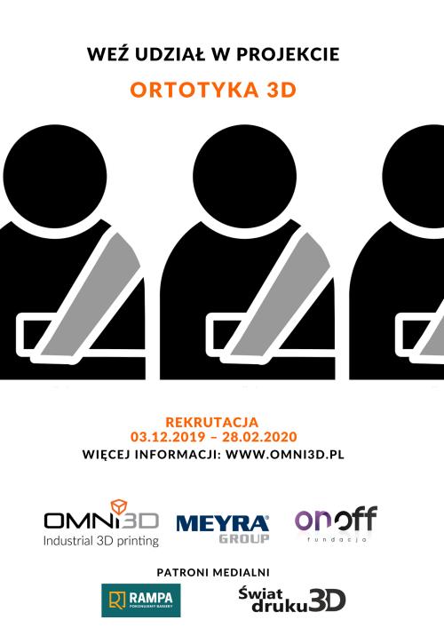 """Projekt """"Ortotyka 3D"""" – wydruki ortez dla osób niepełnosprawnych"""