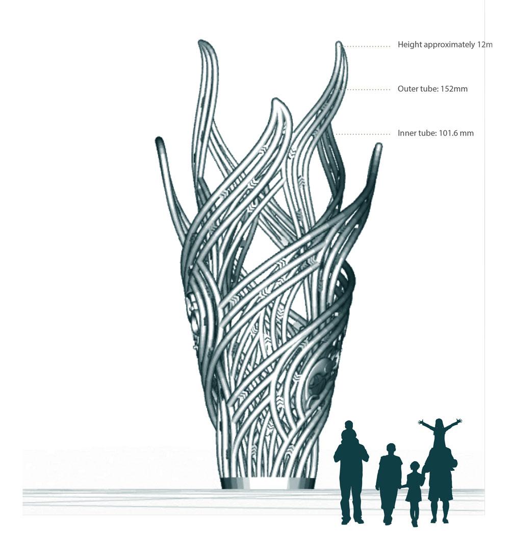 Największa wydrukowana rzeźba 3D już zainstalowana